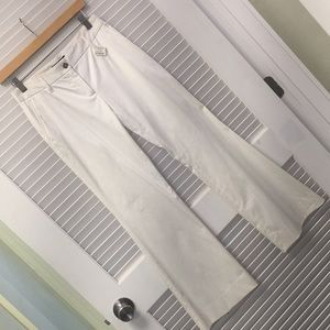 Dolce and Gabbana White Slim Bootcut Trouser